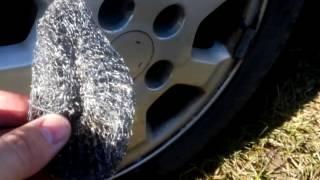 как очистить диски от колодочной пыли иржавчины
