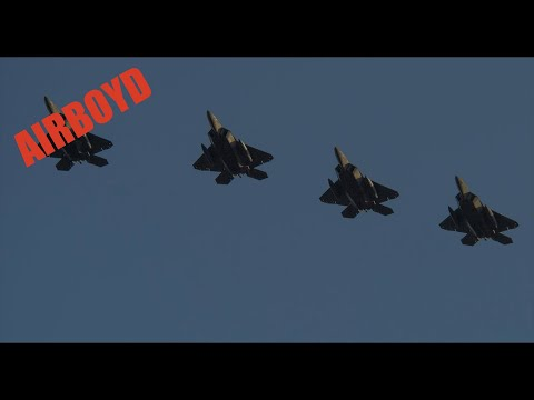 F-22 Raptors At Spangdahlem