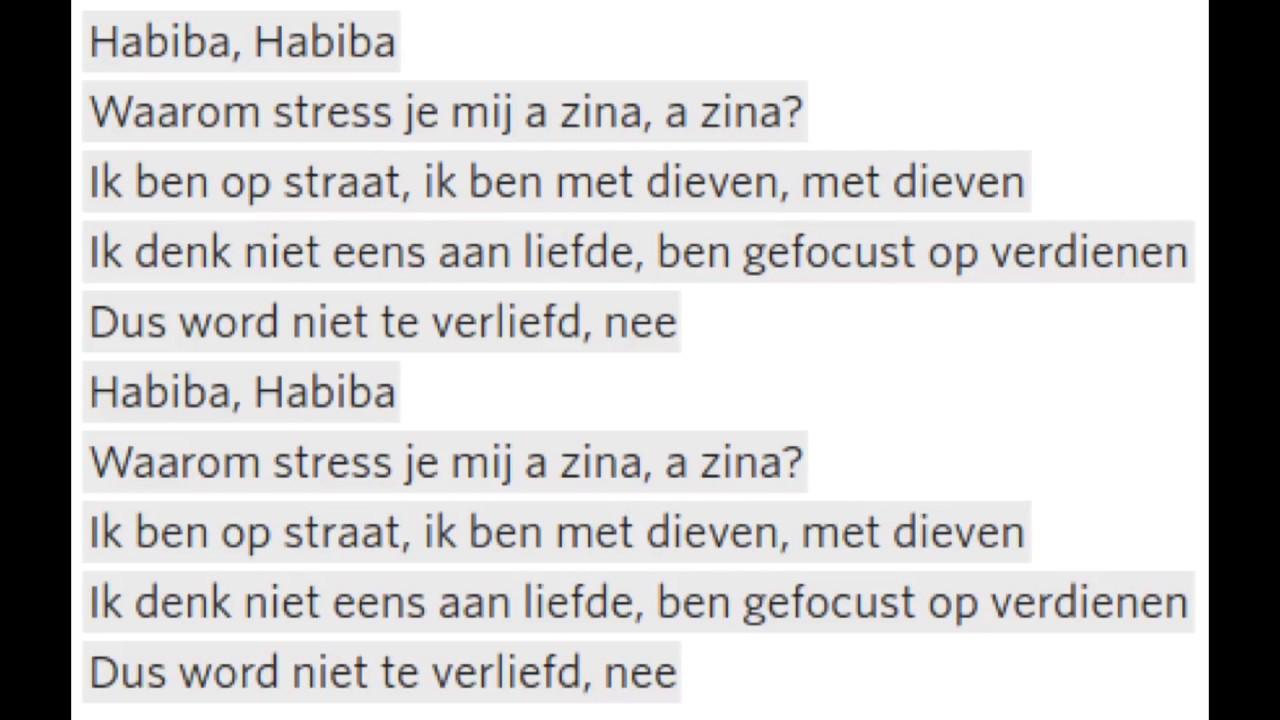 Boef - Habiba +Lyrics - YouTube