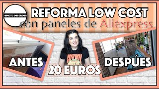REFORMA TERRAZA CON PANELES DE ALIEXPRESS LADRILLO 3D   LOW COST POR 20 EUROS   Efecto del Orden