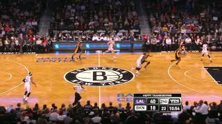 Jordan Farmar: 6 points in 10 seconds - Lakers @ Nets - 2013.11.27