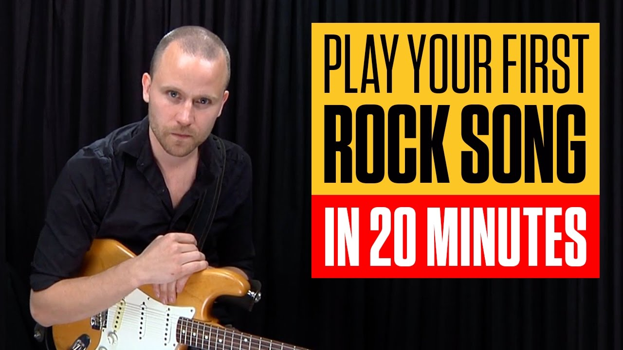 Play Easy Beginner Rock Riffs Licks And Chords Rock Guitar Lesson