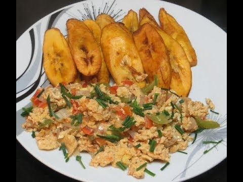 How To Make Nigerian Fried Egg and Plantain Breakfast