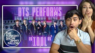 BTS IDOL on Jimmy Fallon - LIVE COUPLES REACTION!