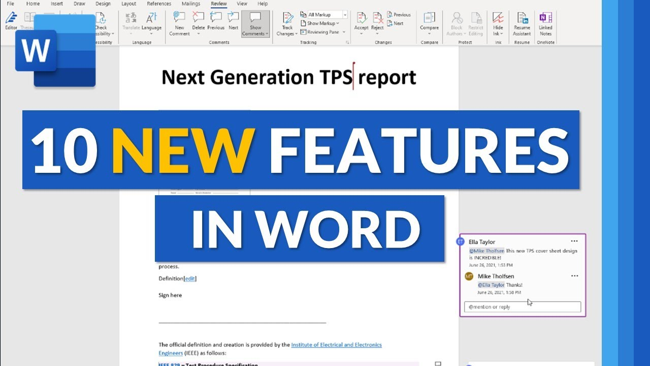 Top 10 Microsoft Word New features for 2021 // New features in Microsoft Word 365 Desktop and web