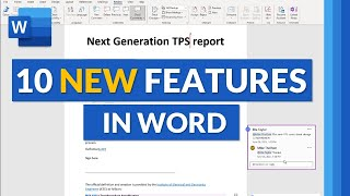 Top 10 Microsoft Word NËW features for 2021 // New features in Microsoft Word 365 Desktop and web
