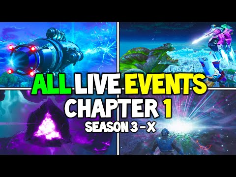 ALL Fortnite LIVE EVENTS From Chapter 1 (Season 3 - Season X) - Storyline Events