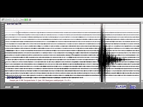 Earthquake Record - M5.0 near Cloverdale, Calfornia, 12.14.2016