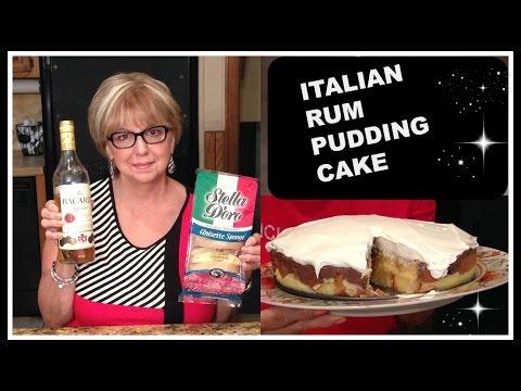 Italian Rum Pudding Cake