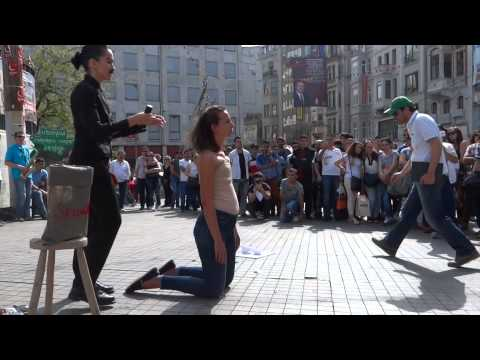 WhOMAN, Performance Art, woman shaved, Istiklal, Galatasaray, Istanbul Turkey Margaux Aubin