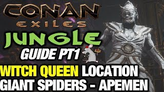 Conan Exiles Jungle Guide Pt1 Witch Queen Giant Spiders Derketto Priest Location