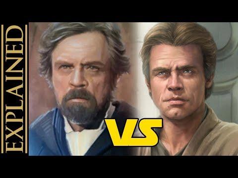 Luke After Return of the Jedi - Star Wars Canon vs Legends