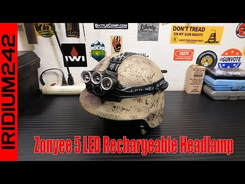 Zonyee 5 LED Rechargeable Headlamp