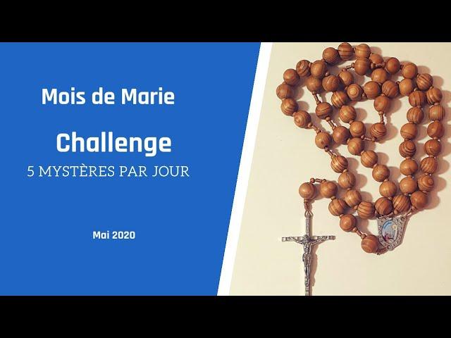 Mois de Marie 2020 - Challenge 5 Mystères par jour | #GrâceNo