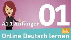 Online Deutsch lernen / A1.1 Anfänger / sich vorstellen / das Alphabet / die Zahlen / Aussprache