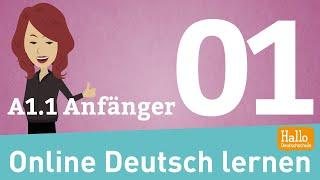 Online Deutsch lernen A1.1 / sich vorstellen / Alphabet / Zahlen / Aussprache / Anfänger Teil 1