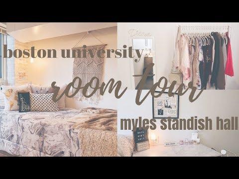 DORM ROOM TOUR | boston university myles standish hall