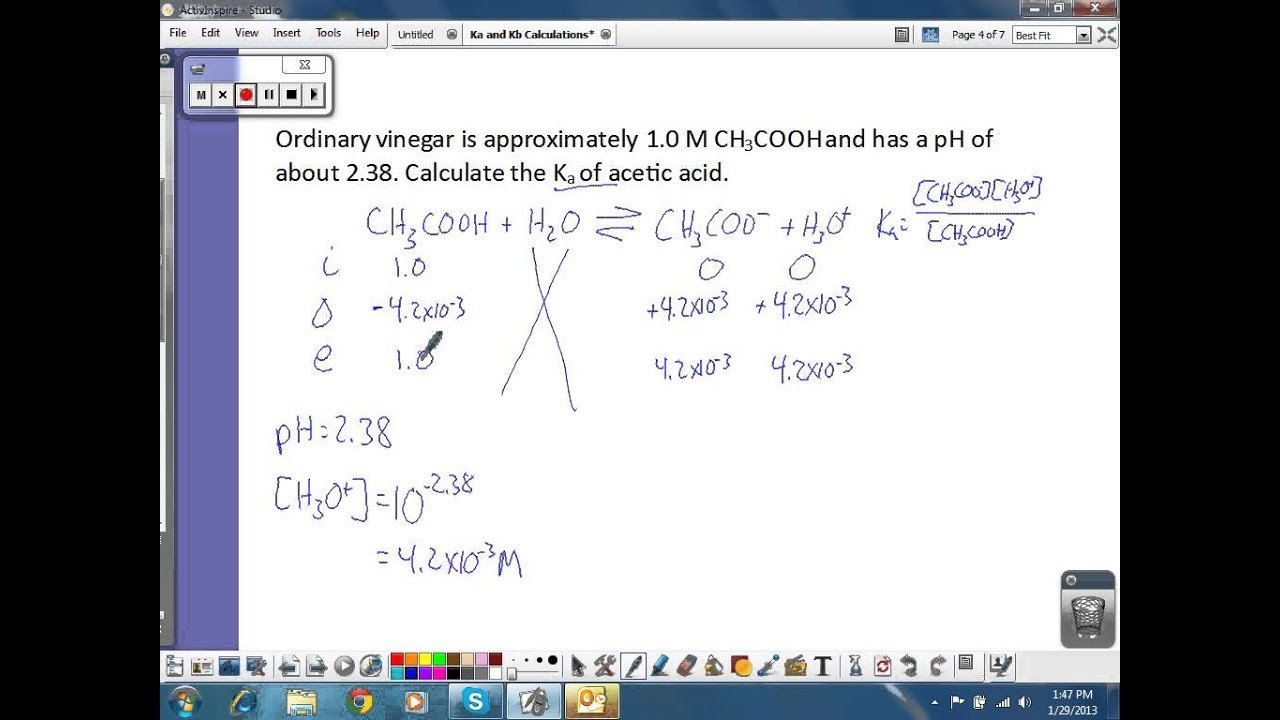 Ka and kb calculations youtube ka and kb calculations robcynllc Choice Image