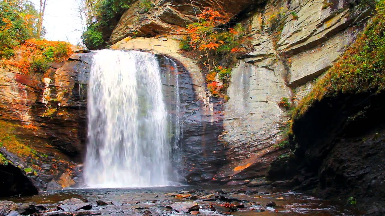 Looking Glass Falls Wallpaper Looking Glass Falls Brevard Nc Blue Ridge Parkway Youtube