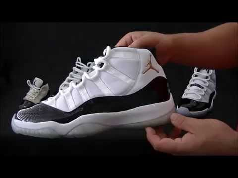 Comparison: An in-depth Air Jordan XI 11 Comparison of the Concords & the DMP