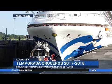 Caribbean Princess primer crucero neo panamax en cruzar esclusas de Canal Ampliado #ECOnews