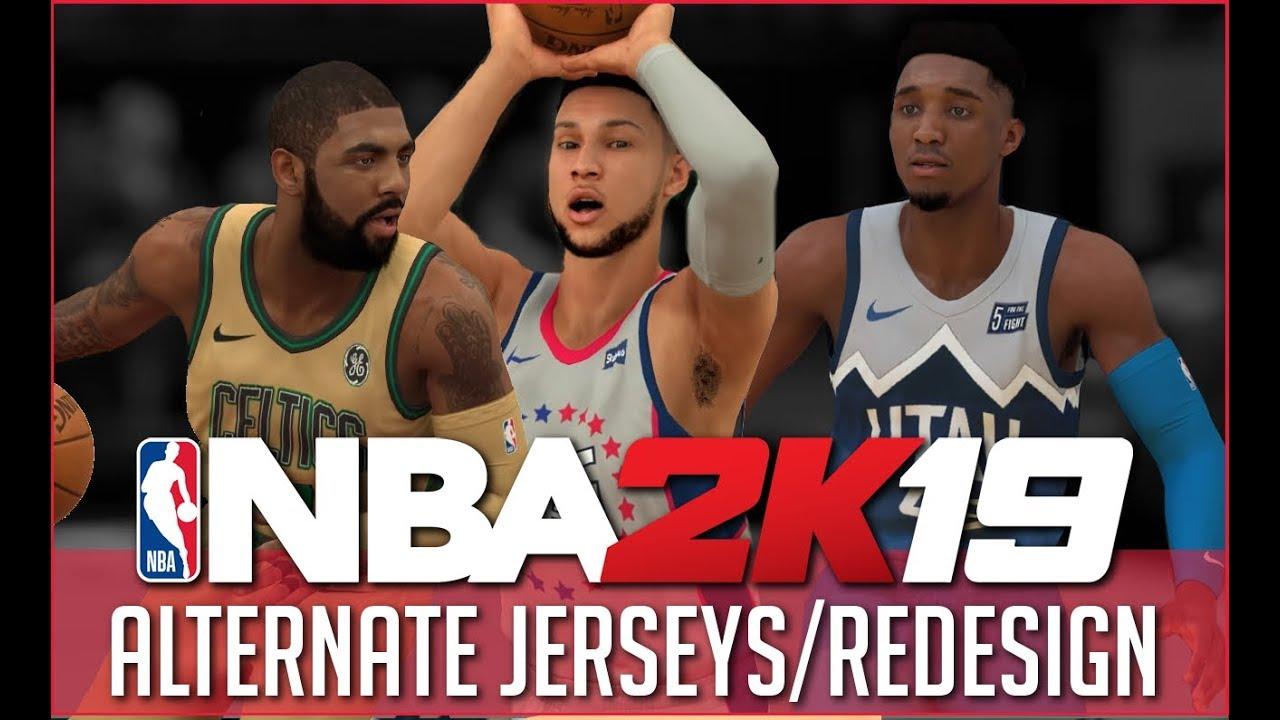 9b1c70a0f THE NBA REBRANDED! 30 TEAM NIKE REBRAND - ALTERNATE JERSEYS - YouTube