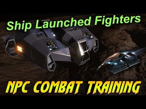 Elite Dangerous - NPC Combat Training - Ship Launched Fighter Leveling