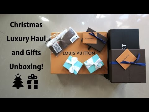 Christmas 2016 Haul/Gifts Unboxing!!! (LV, Tiffany, etc.)