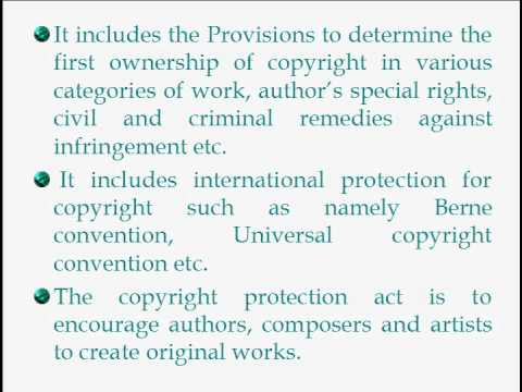 COPYRIGHT Protection act