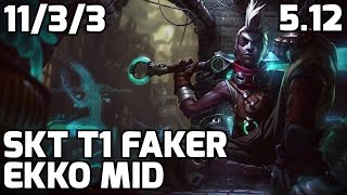 SKT T1 Faker nerfed Ekko vs Viktor [Patch 5.12]