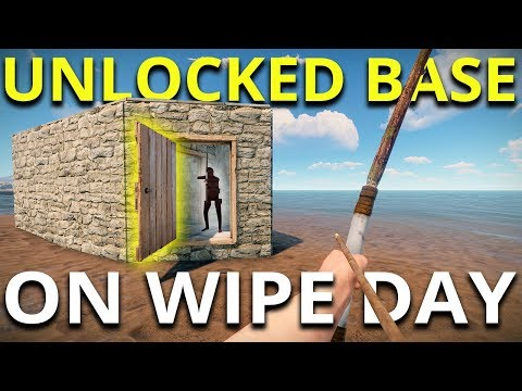 RAIDING BASES ON WIPE DAY - Rust Solo Survival #1