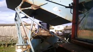 Как работает гидравлика на тракторе т 25, с картофелеуборочным комбайном , vs Bolko , (Польша)