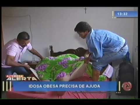 Idosa obesa precisa de ajuda - 27/07/16
