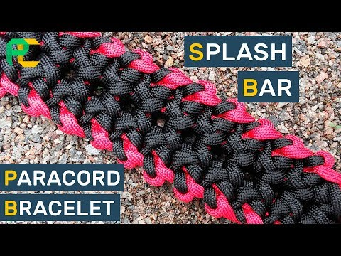Wide Paracord Bracelet Splash Bar