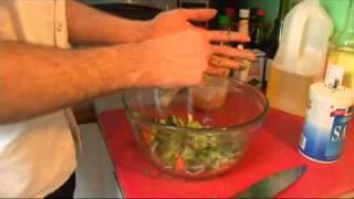 Poached Lemon Shrimp: Add Cucumber, Carrot & Onion