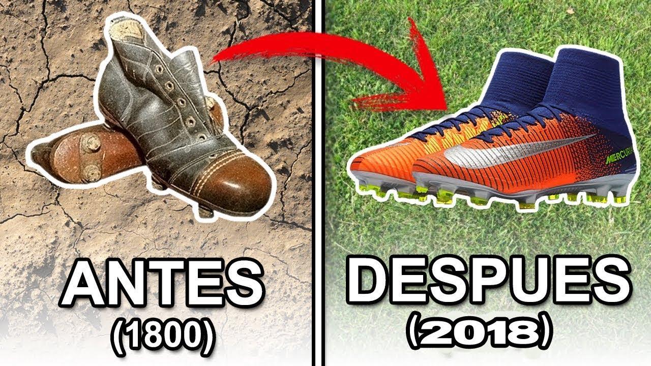 ▷La evolución de las botas de fútbol 1830 - 2018  c53dadf4402cc