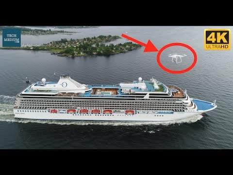 Cruise Chase Dji Phantom 4 Pro 4K Aerial View of Oceania Marina Cruise