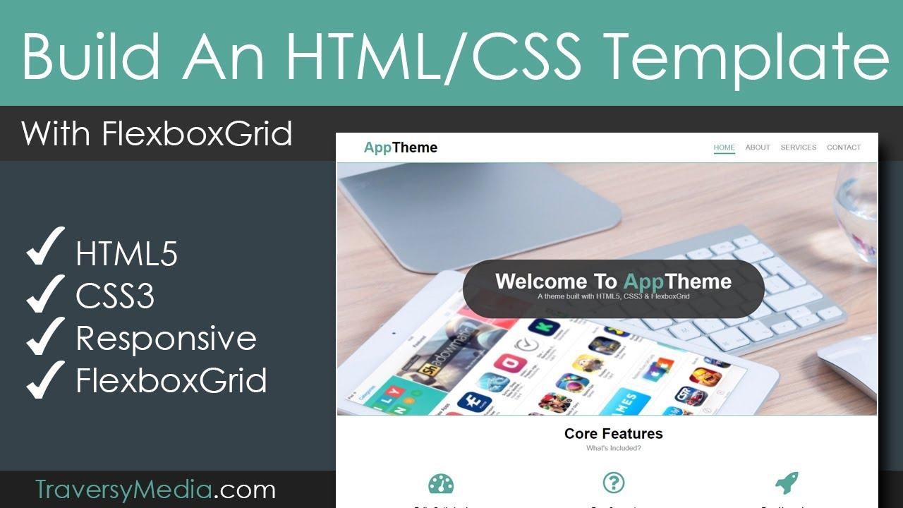 Build A Responsive HTML & CSS Template With FlexboxGrid - YouTube