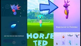 Pokemon Go 100% Shiny Horsea & Seadra - Kingdra Evolution After 43 Tries