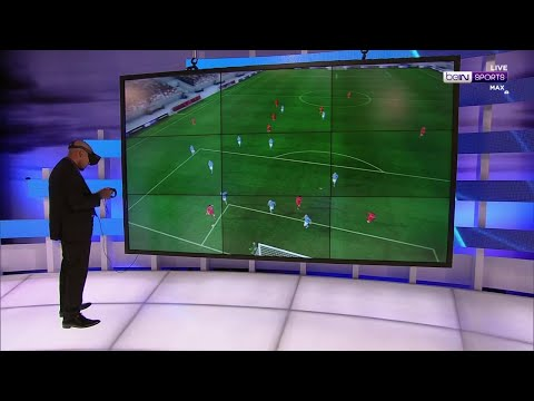 Nigel De Jong uses Virtual Reality(VR) to analyse Salah's goal vs Napoli