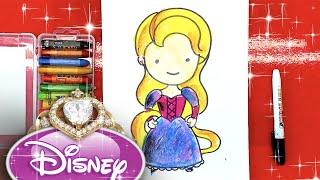 Рапунцель - принцесса Диснея / урок рисования для детей