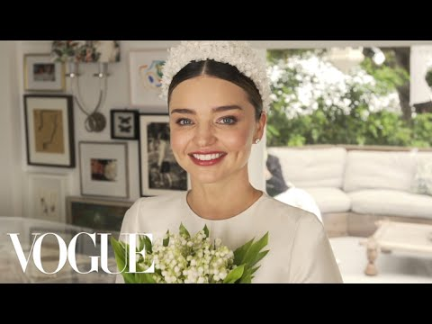 Miranda Kerr's Fairy-Tale Wedding Dress Fitting | Vogue