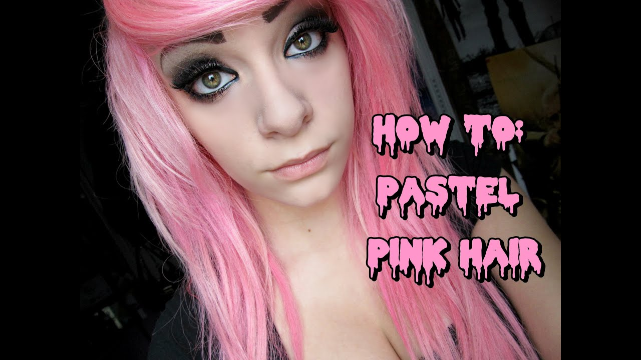 How To Dye Your Hair Pastel Pink YouTube - Hair colour youtube