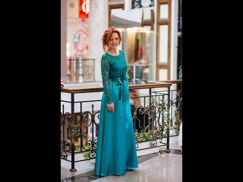 Вечернее платье Art Millano PV001 бирюзового цвета