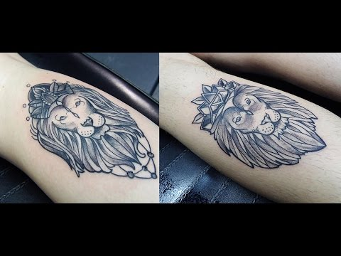 Matching Lion Tattoos Time Lapse