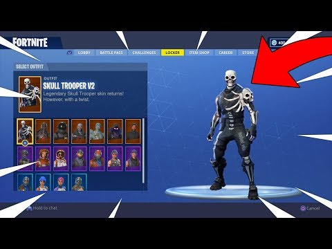 FORTNITE SKULL TROOPER V2 SKIN! THE NEW RAREST SKIN? EPIC NEEDS TO ADD THIS! Fortnite Battle Royale