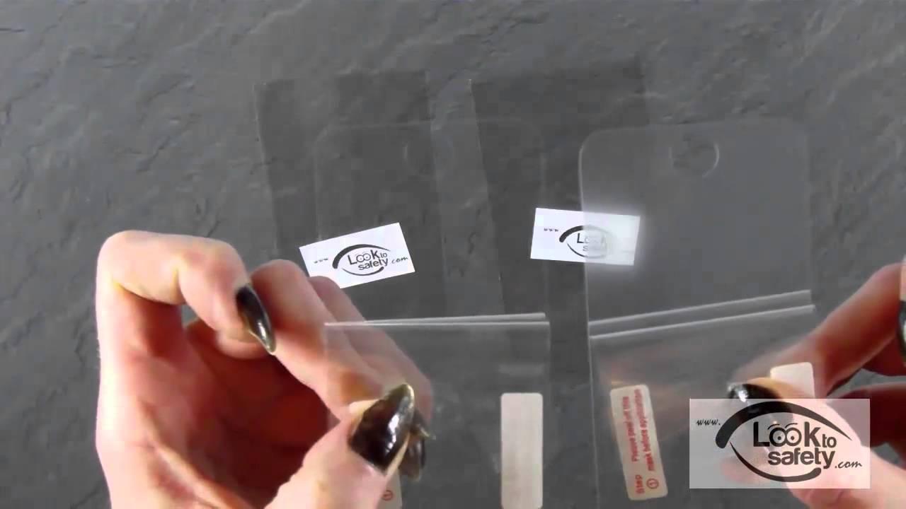 der unterschied zwischen einer matten und klaren displayschutzfolie youtube. Black Bedroom Furniture Sets. Home Design Ideas
