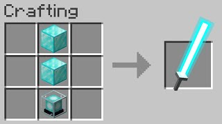 Minecraft but you can craft LASER swords from any block...