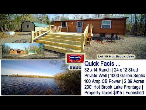 Maine Lakefront Properties   Hot Brook Waterfront Real Estate Listings MOOERS REALTY #8926