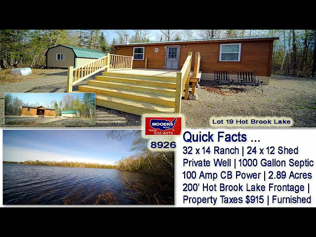 Maine Lakefront Properties | Hot Brook Waterfront Real Estate Listings MOOERS REALTY #8926